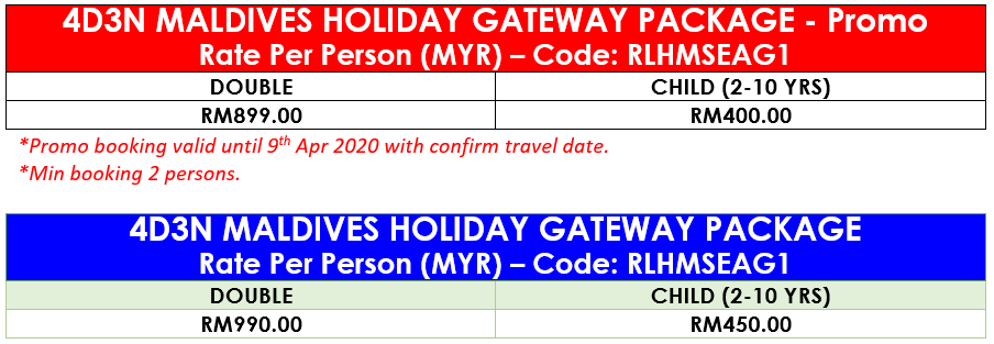 4D3N MALDIVES HOLIDAY GATEWAY PACKAGE