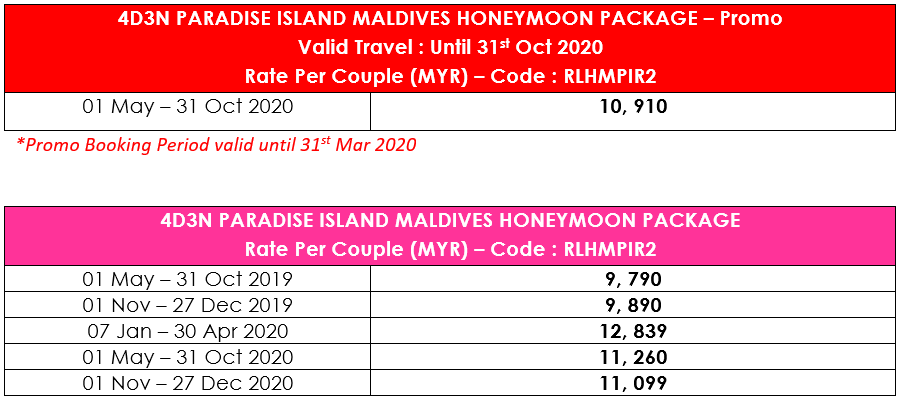4D3N PARADISE ISLAND RESORT - HONEYMOON